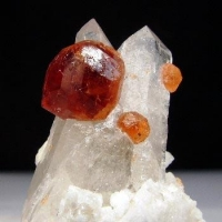 Spessartine & Quartz