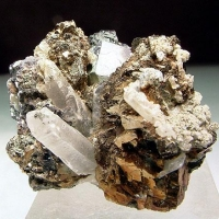 Galena Sphalerite & Pyrite With Quartz