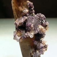 Smoky Quartz With Fluorite & Wolframite