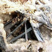 Stibnite With Native Sulphur & Klebelsbergite