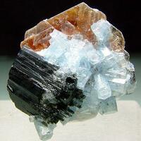 Aquamarine Schorl & Muscovite
