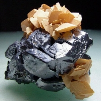 Galena & Manganoan Calcite