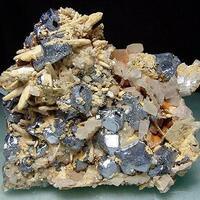 Galena With Siderite Quartz & Manganoan Calcite