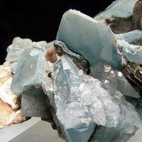 Quartz With Indicolite Inclusions & Muscovite
