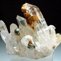 Quartz With Pyrite & Siderite