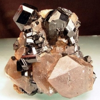 Schorl With Smoky Quartz