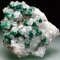 Dioptase & Calcite