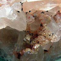 Fluorite & Calcite With Goethite
