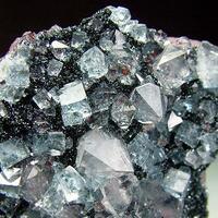 Fluorite & Quartz On Hematite