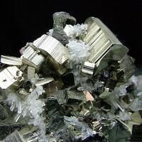 Pyrite & Quartz On Chalcopyrite