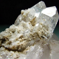 Quartz & Childrenite With Cleavelandite
