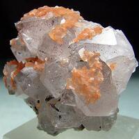 Quartz With Goethite Inclusions & Calcite
