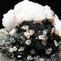 Rhodochrosite Pyrite Sphalerite & Quartz