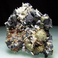 Sphalerite Chalcopyrite & Quartz