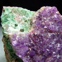 Amethyst On Fluorite