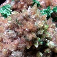 Calcite With Conichalcite & Malachite