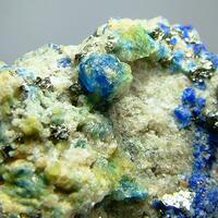 Haüyne & Sodalite With Pyrite & Native Sulphur