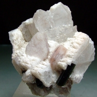 Lepidolite With Beryl & Indicolite
