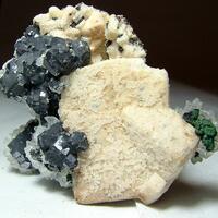 Galena Calcite & Manganoan Calcite
