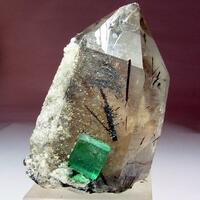 Smoky Quartz With Fluorite Hyalite & Schorl