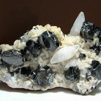 Sphalerite & Calcite On Ankerite
