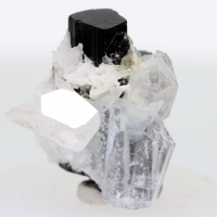 Aquamarine Indicolite & Quartz