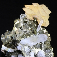 Pyrite With Manganoan Calcite