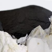 Schorl With Cleavelandite & Quartz