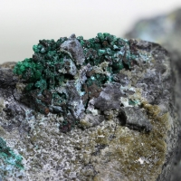Childrenite With Brochantite & Native Copper