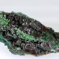 Calcite On Malachite