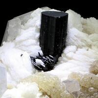 Elbaite With Lepidolite & Tantalite-(Mn)