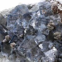 Fluorite With Siderite & Calcite