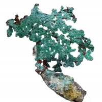 Native Copper & Malachite
