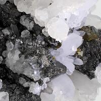 Bournonite Chalcopyrite Sphalerite With Calcite & Quartz
