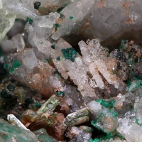 Cornwallite & Olivenite With Quartz