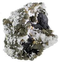 Sphalerite & Quartz With Siderite With Boulangerite Inclusions