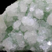 Apophyllite On Prehnite With Sphalerite
