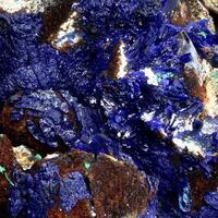 Azurite With Goethite Psm Calcite