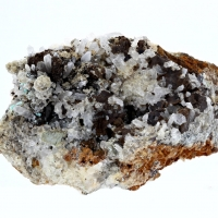 Quartz With Hemimorphite & Aurichalcite