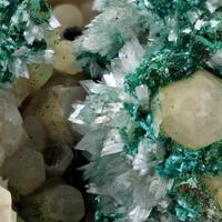 Gypsum On Quartz With Calcite