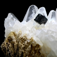 Calcite With Ilvaite & Apophyllite