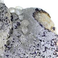 Fluorite & Calcite On Baryte