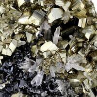 Pyrite With Sphalerite & Quartz