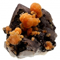 Calcite On Native Copper With Quartz With Hematite