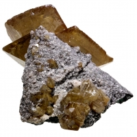Wulfenite & Dolomite On Tennantite