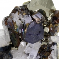 Galena Sphalerite & Pyrite With Calcite & Quartz