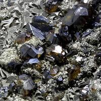 Sphalerite Pyrite & Calcite On Barian Celestine