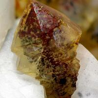 Sceptre Quartz With Calcite