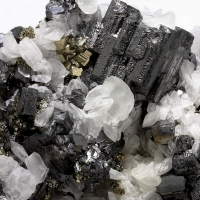 Bournonite Pyrite & Calcite