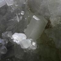 Calcite & Fluorite On Quartz